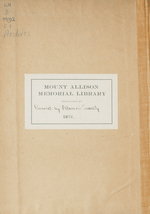 Mount Allison Record, Vol. 1-6, 1916-1922