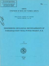 Engineering geological reconnaissance of Passamaquoddy tidal power