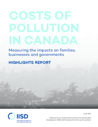 Costs of pollution in Canada - highlights
