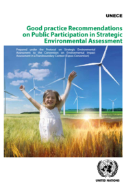 Good Practice Recommendations on Public Participation in Strategic Environmental Assessment