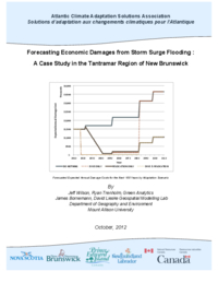 Forecasting economic damages from storm surge flooding