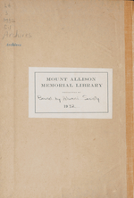 Mount Allison Record, Vol. 7-12, 1922-1929