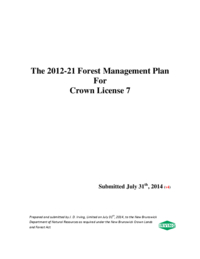 2012-21 Forest Management Plan