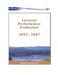 Licensee performance evaluation