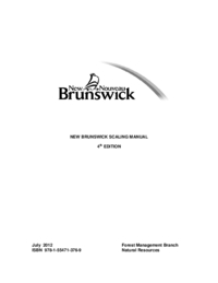 New Brunswick Scaling Manual