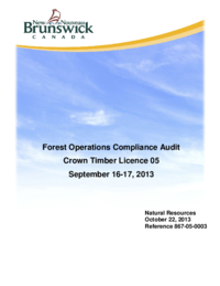 Forest Operations Compliance Audit Crown Timber Licence 05