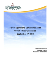 Forest Operations Compliance Audit Crown Timber License 05