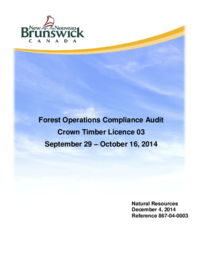 Forest Operations Compliance Audit Crown Timber Licence 03