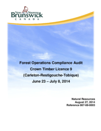 Forest Operations Compliance Audit Crown Timber Licence 9